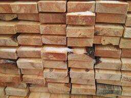 Timber from pine. Wood materials. lumber from the manufactur
