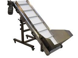 Adjustable conveyor with hopper ACWH