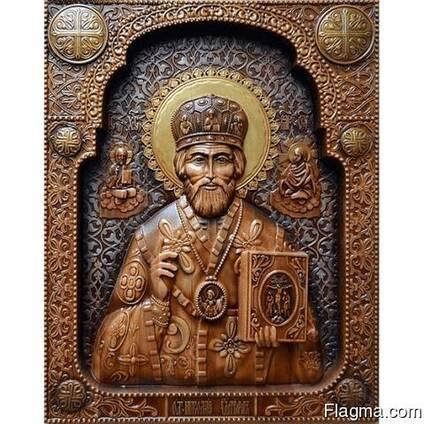 "Carved icon – ""Saint Nicholas"""