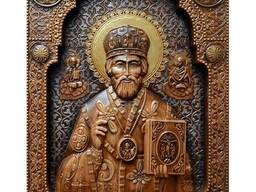 "Carved icon – ""Saint Nicholas"""