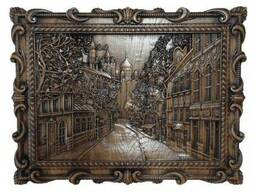 "Carved panel – ""City"""