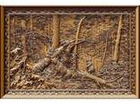 """Carved panel – """"Morning in coniferous forest"""" - photo 1"""