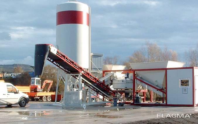 Мобильный бетонный завод Sumab K-60 (60 м3/час) Швеция