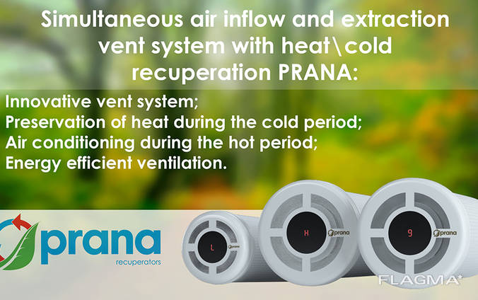 Supply and exhaust ventilation with heat / cold recuperation